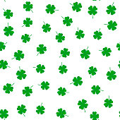 Clover leaf seamless vector pattern