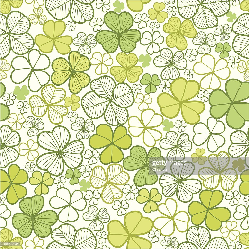 Clover Seamless Pattern Background