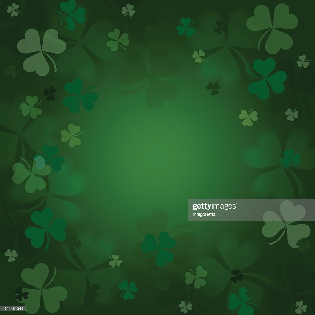 Clovers  on a green  background.
