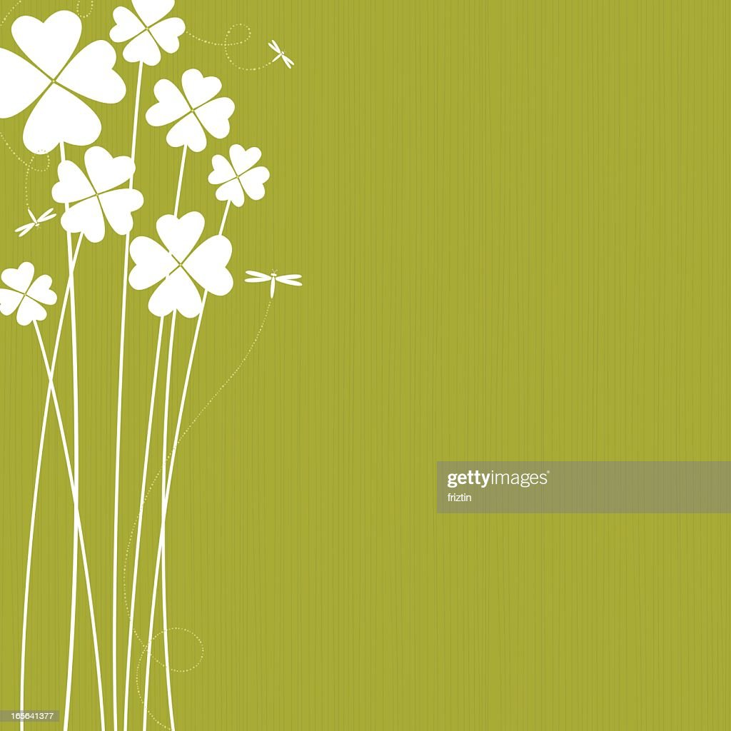 Clovers with white green colors