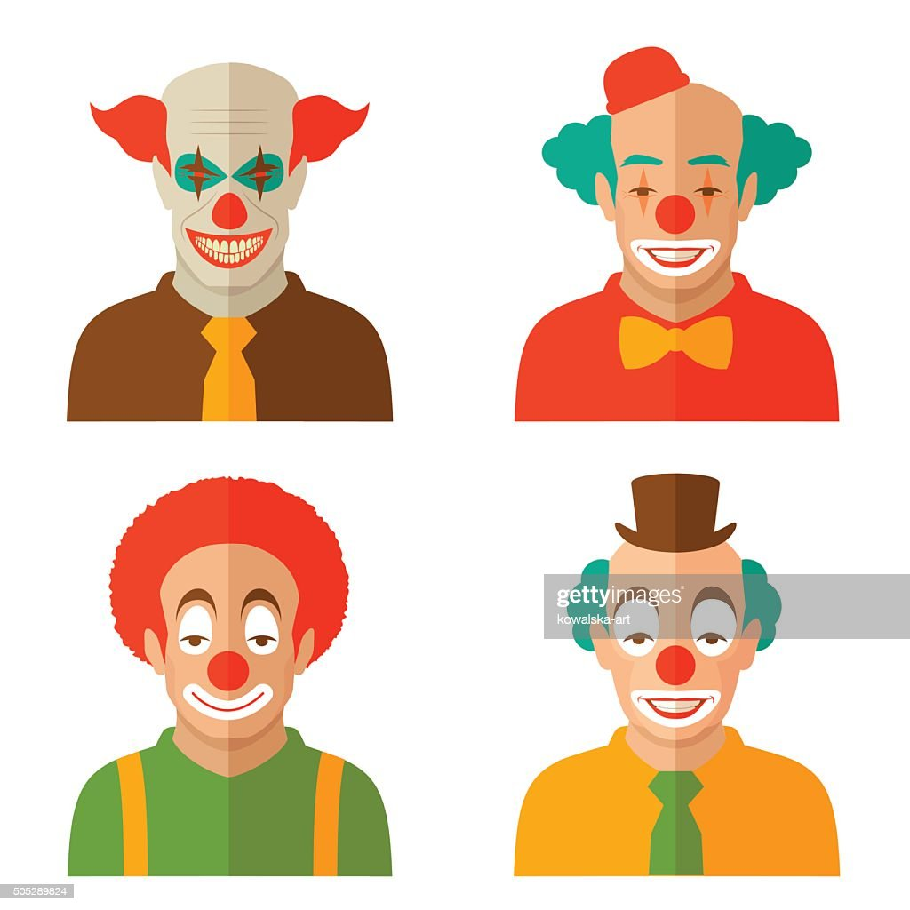 clown cartoon face