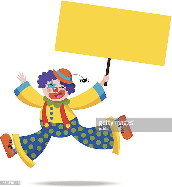 Clown holding a sign 1
