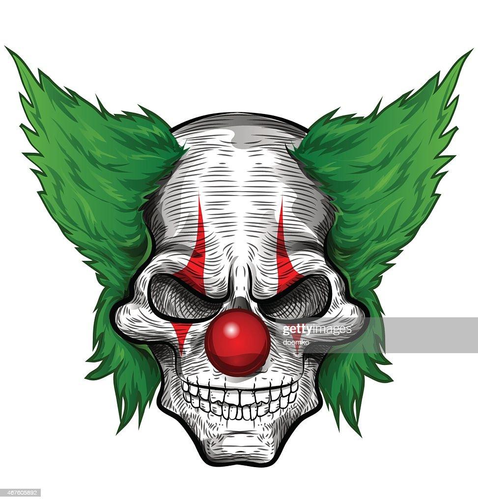 clown skull isolated