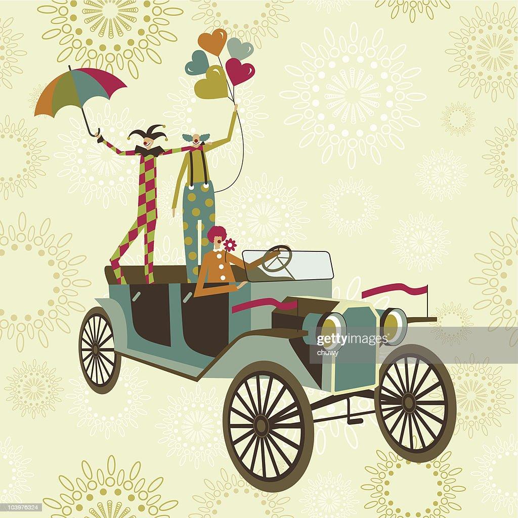 Clowns' car : stock illustration