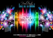 Club Disco Flyer Set with LOW POLY DJs