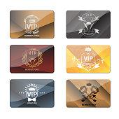 VIP club members only premium cards vector set