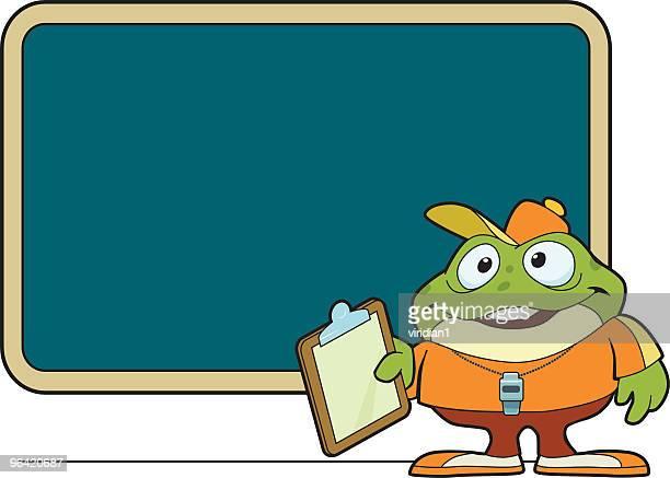coach frog - whistle blackboard stock illustrations