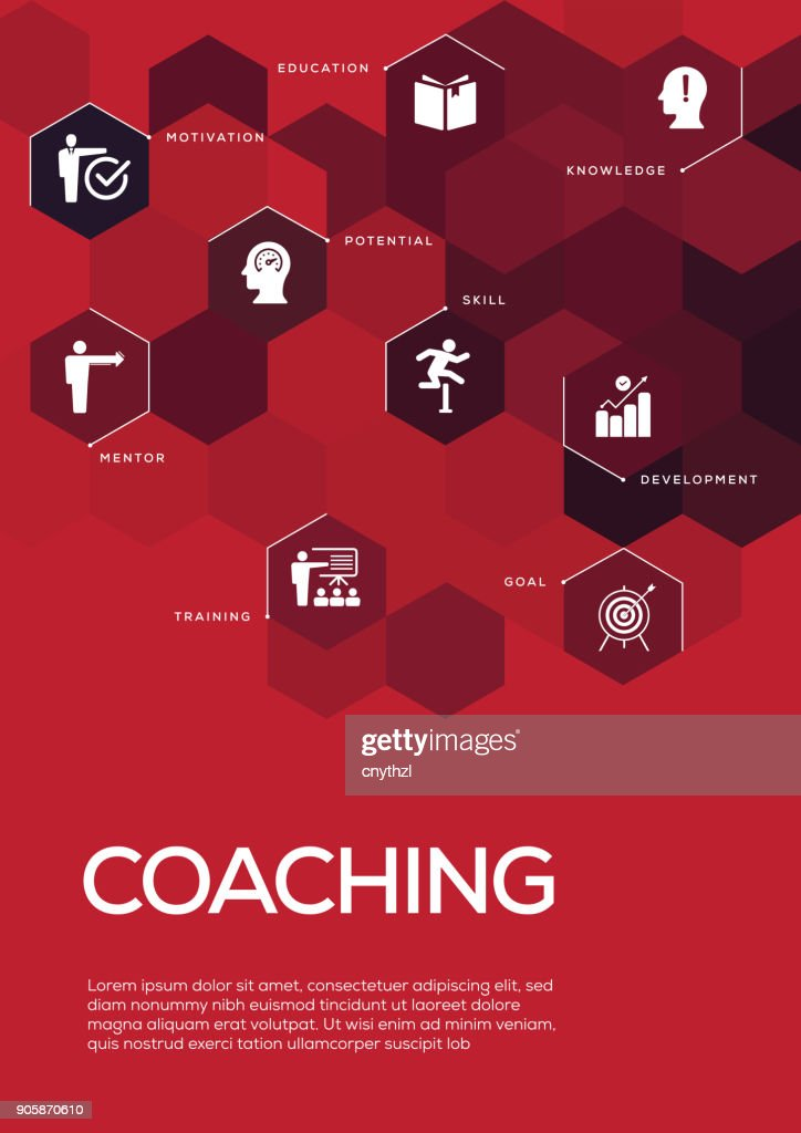 coaching brochure template layout cover design vector art