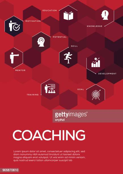 coaching. brochure template layout, cover design - role model stock illustrations, clip art, cartoons, & icons