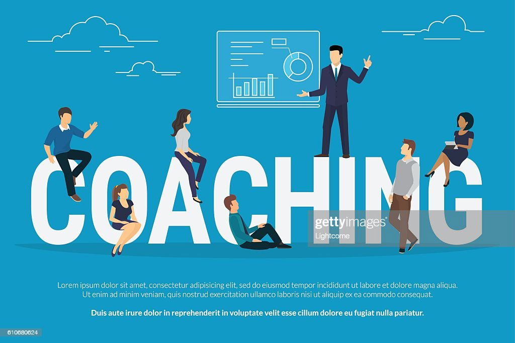 Coaching concept illustration