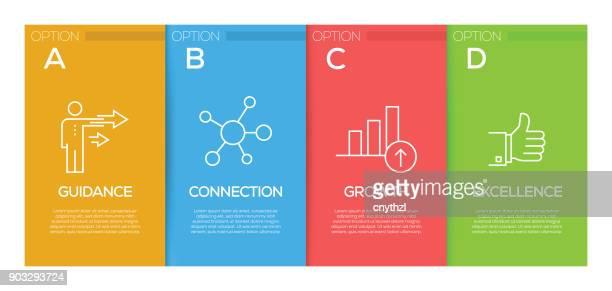 coaching infographic design template - guru stock illustrations, clip art, cartoons, & icons