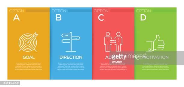 coaching infographic design template - presentation stock illustrations