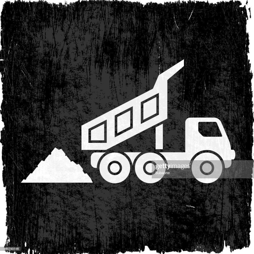 Coal Mining Truck on Black royalty free vector Background