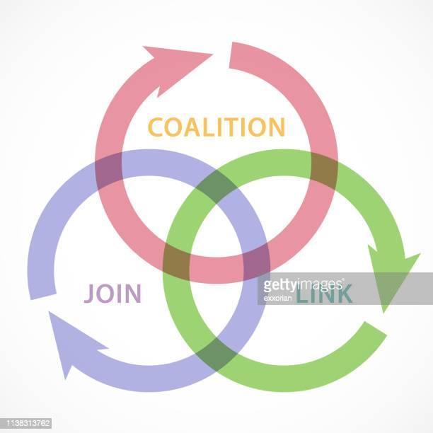 coalition arrows - center athlete stock illustrations