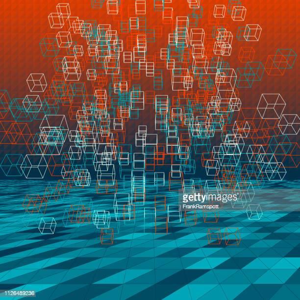 Küste abstrakte 3D-Vektor Cube