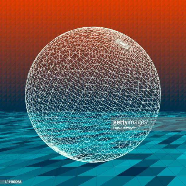 Küste abstrakte 3D-Vektor Kugel