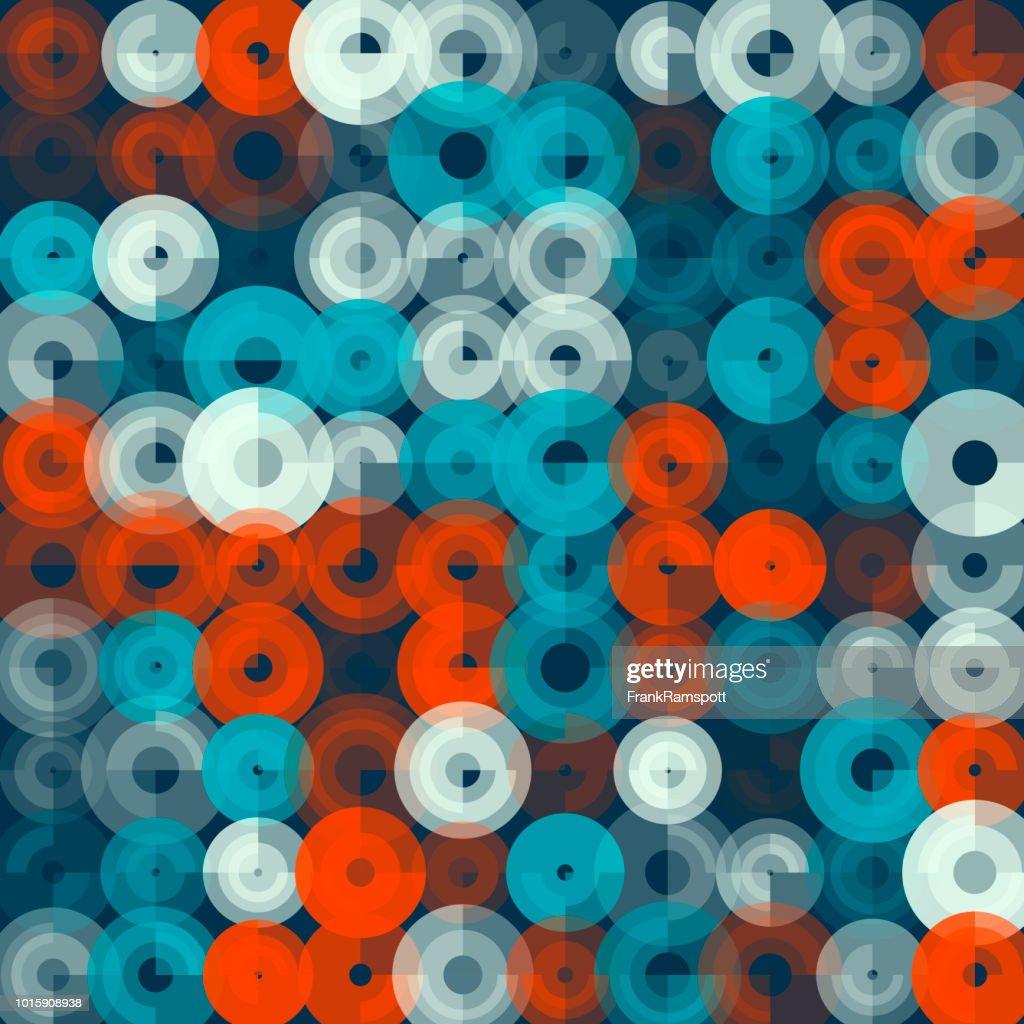 Küste-abstrakten Kunst Kreismuster : Vektorgrafik