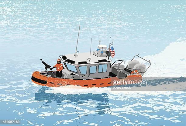 us coast guard ship - us marine corps stock illustrations, clip art, cartoons, & icons
