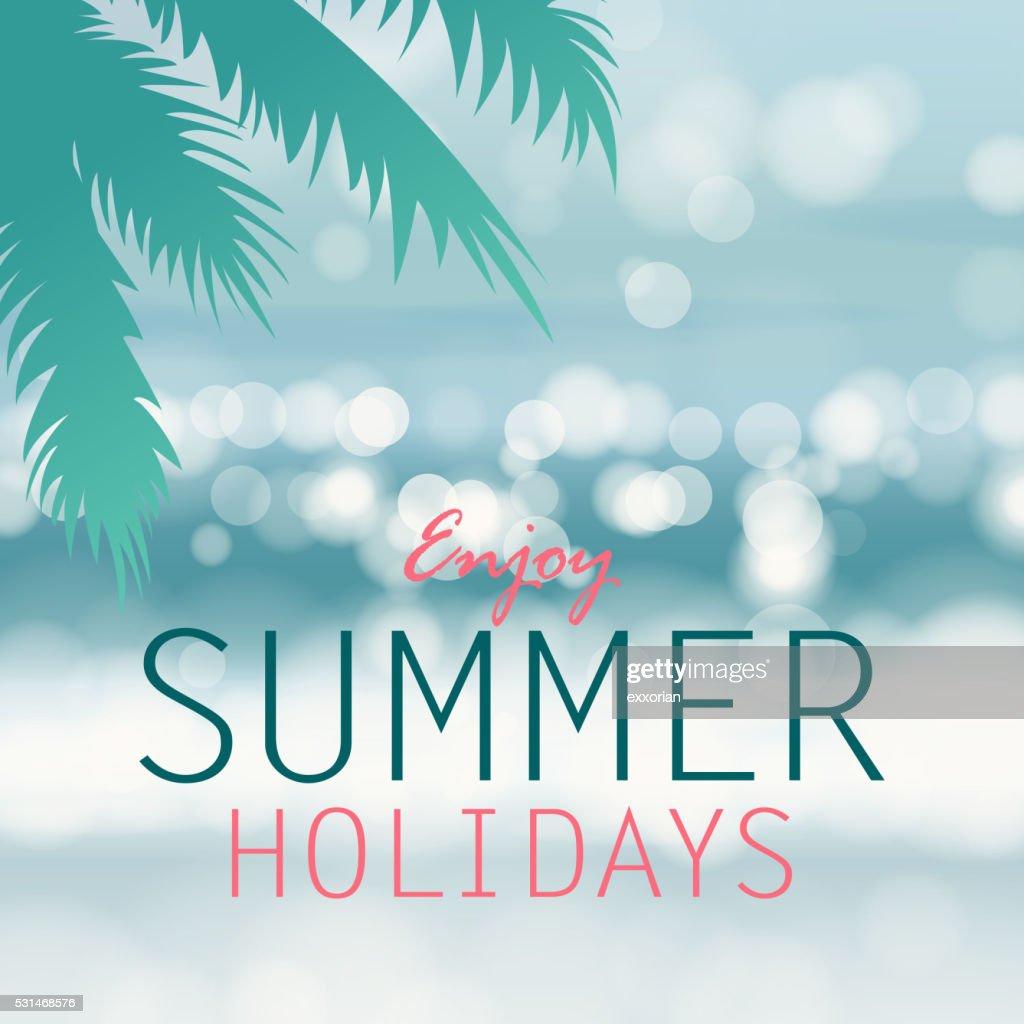 Coastline Background For Summer Holidays