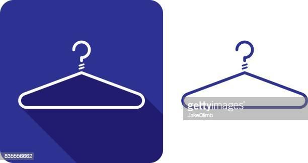 coat hanger icon silhouette 2 - dry cleaned stock illustrations