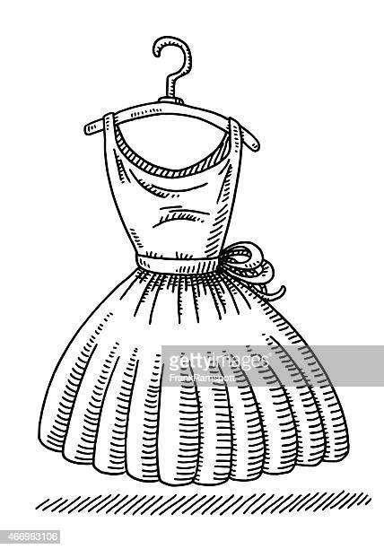 Coat Hook Women's Dress Clothing Drawing