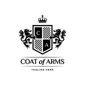 Coat Of Arms Heraldic Luxury Design Concept