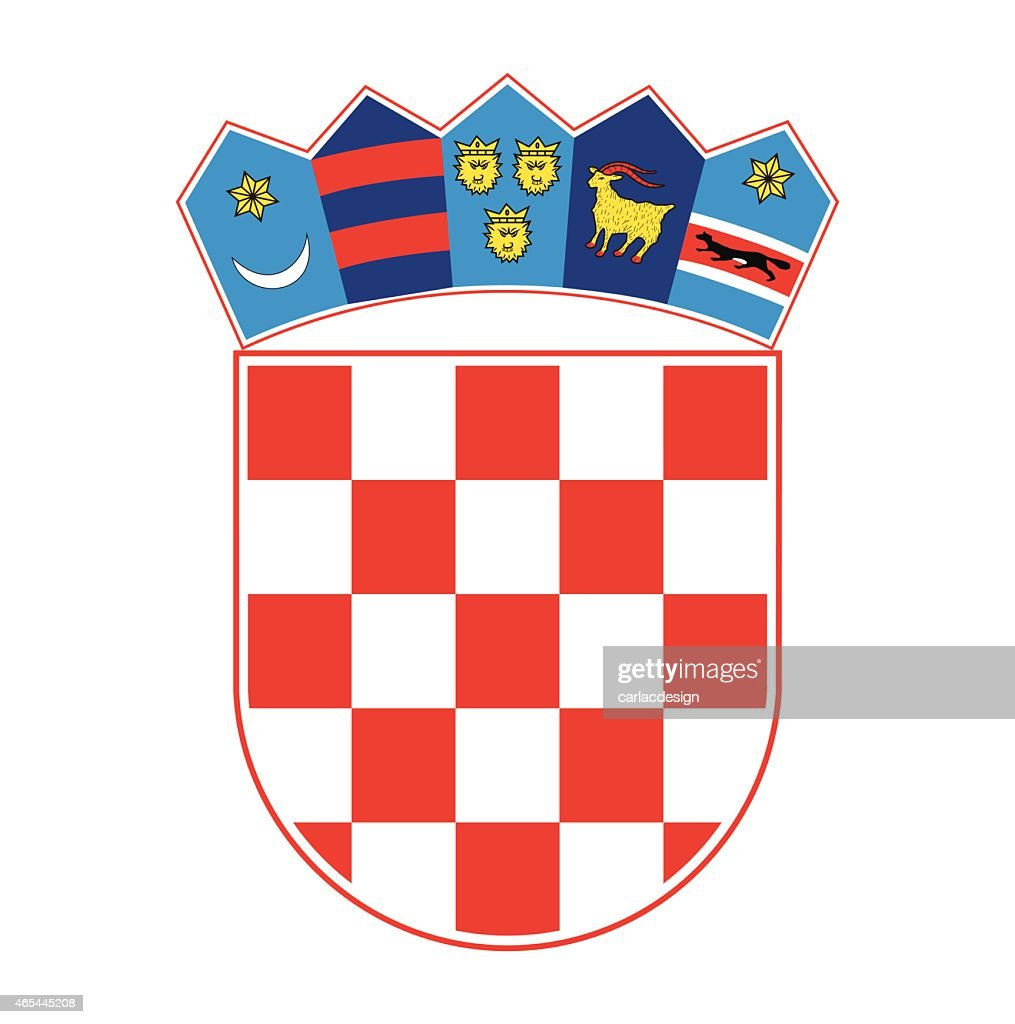 Coat of arms of Croatia, vector illustration