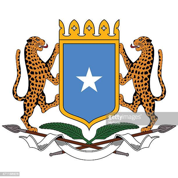 coat of arms of somalia - somalia stock illustrations