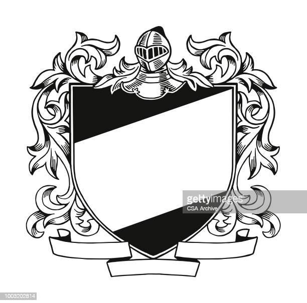 coat of arms - ritter stock-grafiken, -clipart, -cartoons und -symbole