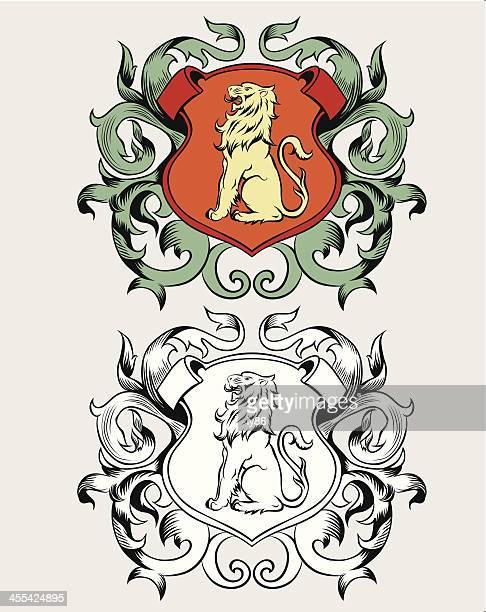 ilustrações, clipart, desenhos animados e ícones de brasão de armas - insígnia