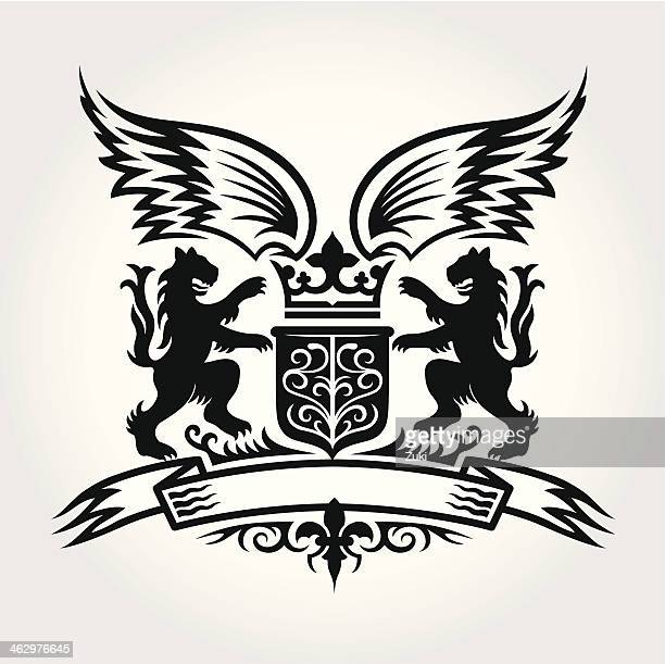 coat of arms - embellishment stock illustrations