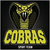 cobras green banner illustration design colorful