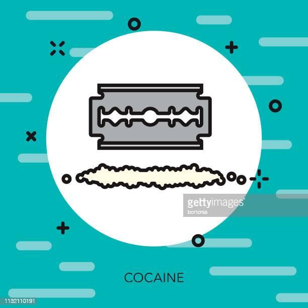 cocaine drugs thin line icon - cocaine stock illustrations, clip art, cartoons, & icons