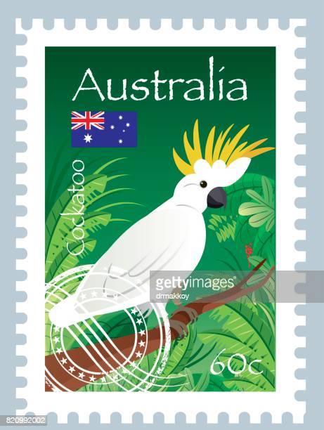 Kakadu Vögel Stempel