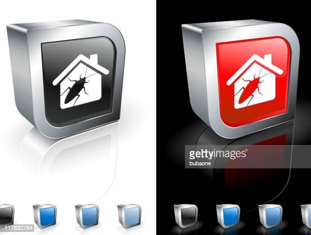cockroach infestation 3d royalty free vector art - infestation stock illustrations, clip art, cartoons, & icons