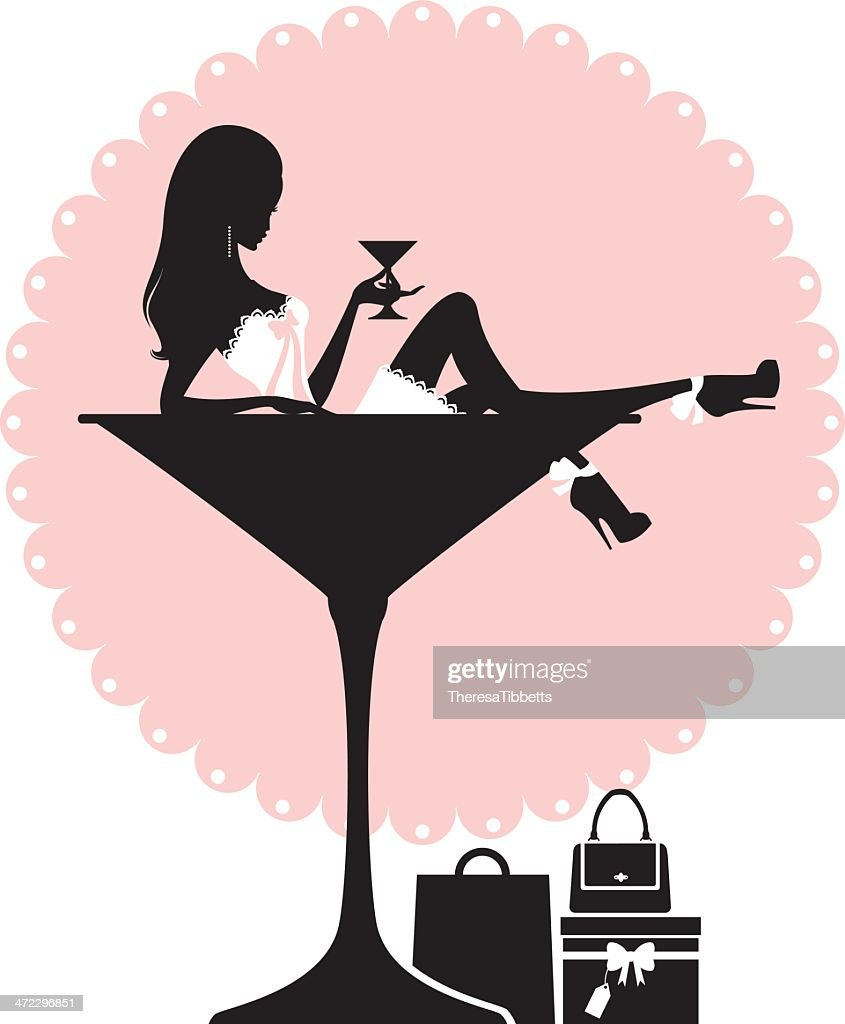 Cocktail and Shopping Girl