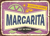 Cocktail bar retro sign design