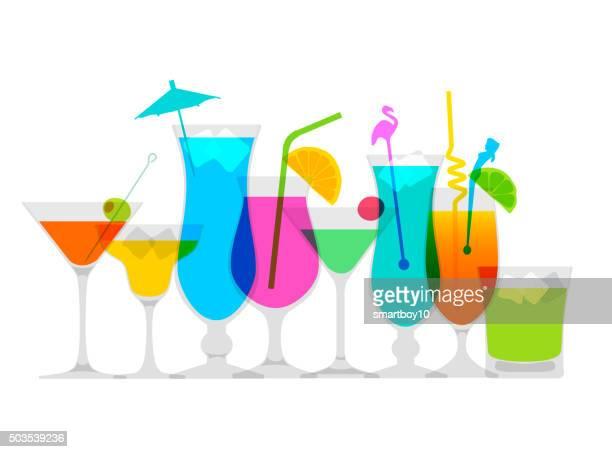 ilustrações, clipart, desenhos animados e ícones de coquetel de bebidas - tequila bebida destilada