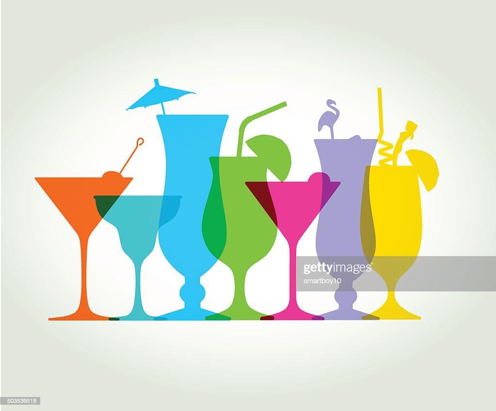 Cocktail Drinks : stock illustration