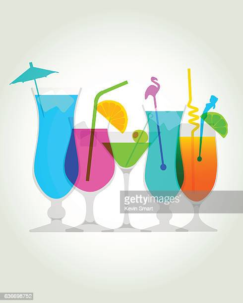 cocktail drinks - fruit juice stock illustrations, clip art, cartoons, & icons