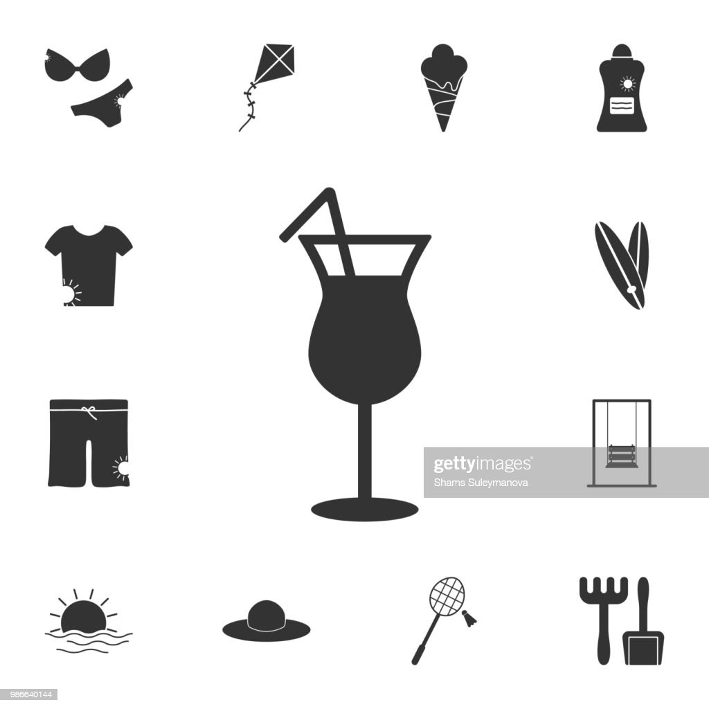 cocktail icon. Detailed set of Summer illustrations. Premium quality graphic design icon. One of the collection icons for websites, web design, mobile app