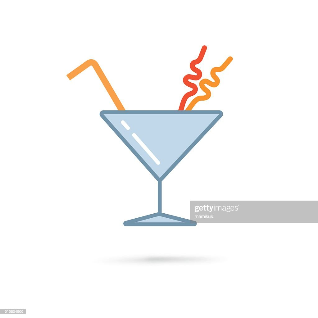 cocktail in martini glass : Vector Art