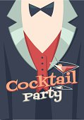 Cocktail party blank poster\\card