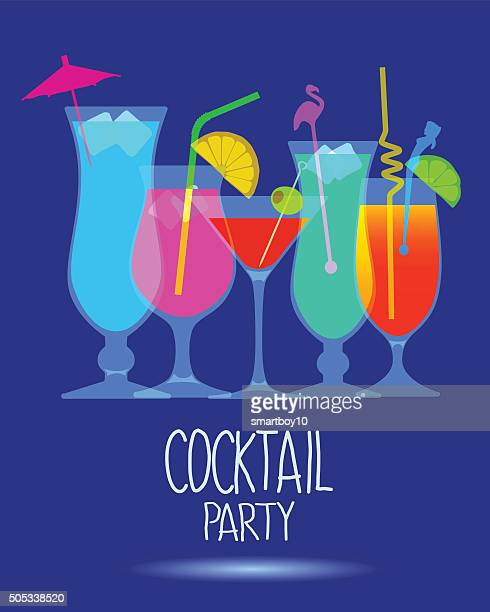 cocktail party inviteprint - tequila drink stock illustrations, clip art, cartoons, & icons
