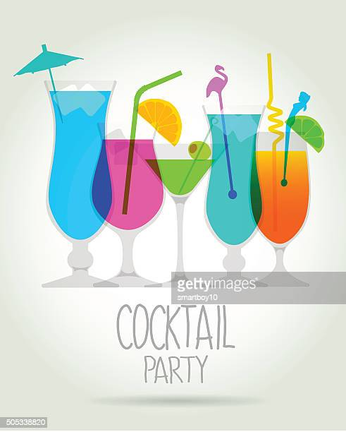 cocktail party inviteprint - juice drink stock illustrations, clip art, cartoons, & icons