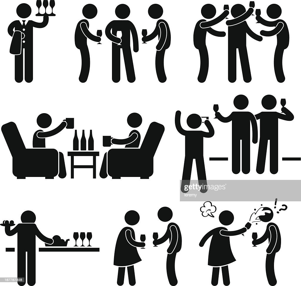 Cocktail Party Pictogram