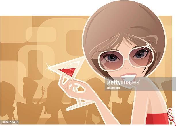 ilustraciones, imágenes clip art, dibujos animados e iconos de stock de fiesta de cócteles - glamour