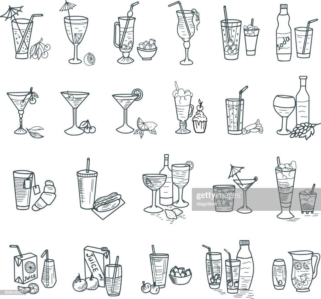 Cocktails Doodles