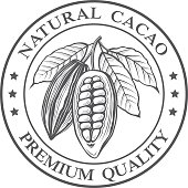 cocoa beans stamp