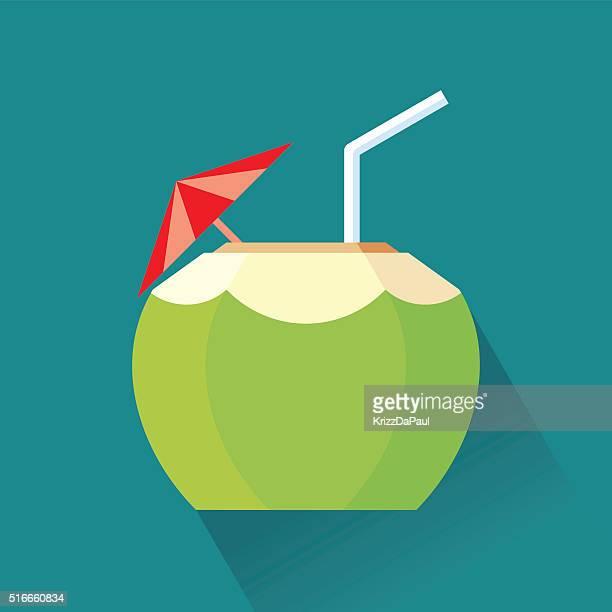 ilustrações, clipart, desenhos animados e ícones de coco coquetel - bebida alcoólica